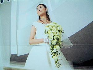 ウェディングドレス フラワー花